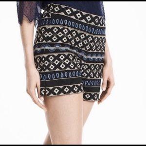 White House Black Market WHBM embroidered Shorts